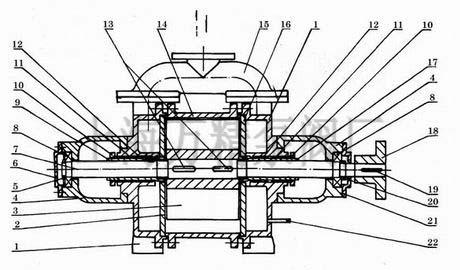5/3水环真空泵结构图